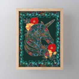 Unicorn Tapestry Framed Mini Art Print