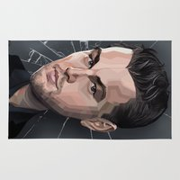 leonardo dicaprio Area & Throw Rugs featuring DiCaprio Caricature by Stevie Ray Thompson
