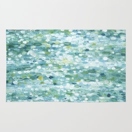 Dotted Coastal Ocean Reflections Rug