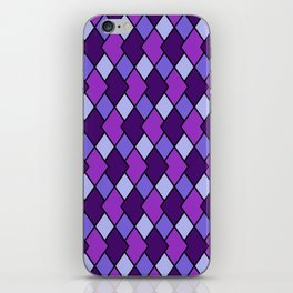 Big Harlequin Purple_Multi iPhone Skin
