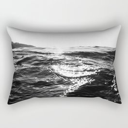 Fistral Sea Surface monochrome Rectangular Pillow