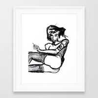 butt Framed Art Prints featuring Butt by Speedqueen Art