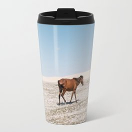 Lonely Horse Travel Mug