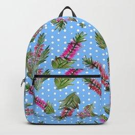 Beautiful Australian Bottlebrush Pattern Backpack