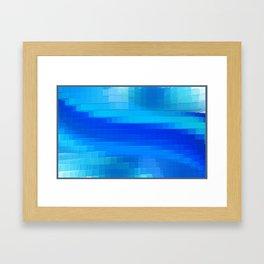 Blue Toned Background Framed Art Print