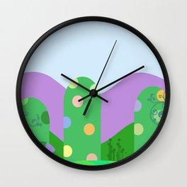 Cute landscape green  Wall Clock