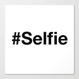 selfie typescript Canvas Print