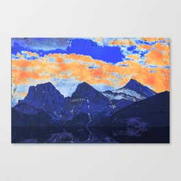 Faith - Hope - Charity - The Three Sisters Mountains, Canmore, AB, Canada Canvas Print