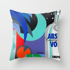 Absolut at Night - Paint Throw Pillow