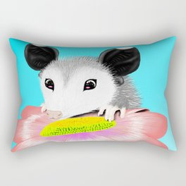 Blossom the Opossum Rectangular Pillow