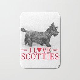I Love Scotties Bath Mat