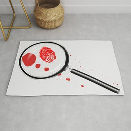 Detectives Magnifying Glass Rug