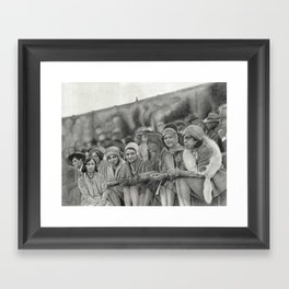 "Black Flappers - 1920s Fashion - ""Spectators"" Framed Art Print"
