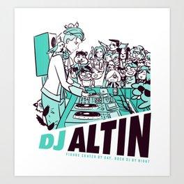DJ Altin Shirt (Green Variant) Art Print