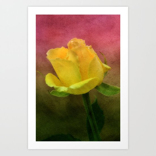 Pink, Green and Yellow Art Print
