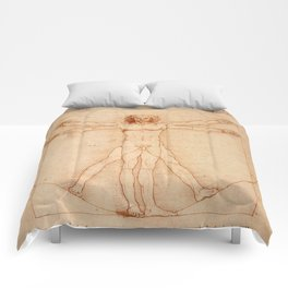 Vitruvian Man (c. 1490) Comforters