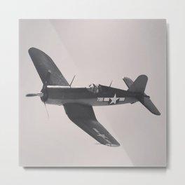 F4U Corsair Metal Print