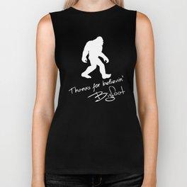 Thanks For Believin' Bigfoot Autograph Silhouette Biker Tank