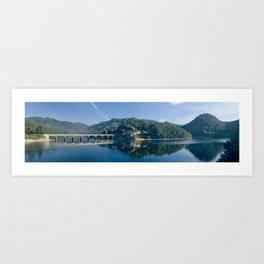 Canicada lake in Northern portugal Art Print