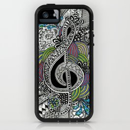 Musical Zentangle iPhone Case