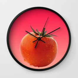 Red big Tomato - Fruit graphic Design Wall Clock