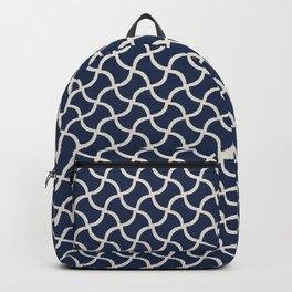 Abstract geometricbones - blue Backpack