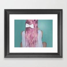 Nebula Girl Framed Art Print