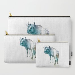Wildebeest / Abstract animal portrait. Carry-All Pouch
