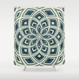 Spiral Rose Pattern E 4/4 Shower Curtain