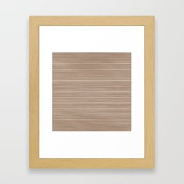 Light Hazelnut Brown  Weathered Whitewash Wooden Beach Hut Framed Art Print