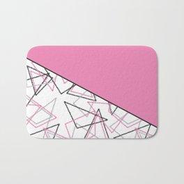 Abstract pink combo pattern . Bath Mat