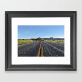 CA Road Framed Art Print