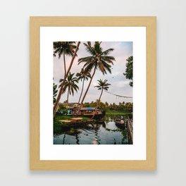 Backwater Sunset Framed Art Print