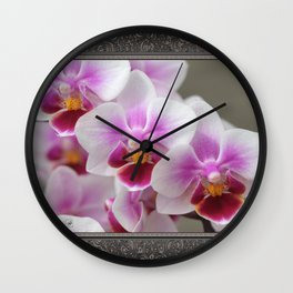 Phalaenopsis Orchid named Be Tris Wall Clock