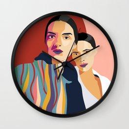 Womanity - Sisterhood - Model#2.3 - fashion illustration Wall Clock