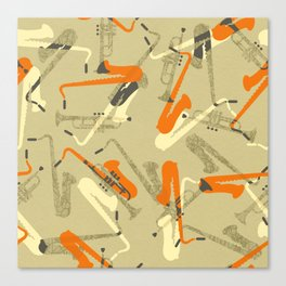 Miles & 'Trane Canvas Print