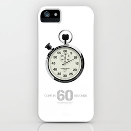 Gone in 60 Seconds - Alternative Movie Poster iPhone Case