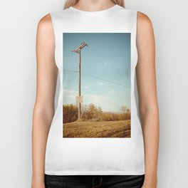 Roads and Lines Lead Can Lead Us to Somewhere New. Biker Tank