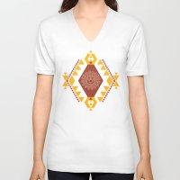southwest V-neck T-shirts featuring Southwest - Terra by Mia Valdez