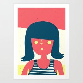 Self-portrait Waiting for Summer Art Print