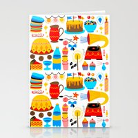 birthday Stationery Cards featuring BIRTHDAY by Riku Ounaslehto