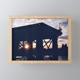 Greenwich Sunset (2) Framed Mini Art Print
