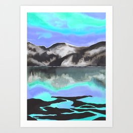 Nighttime in the Mountains Art Print