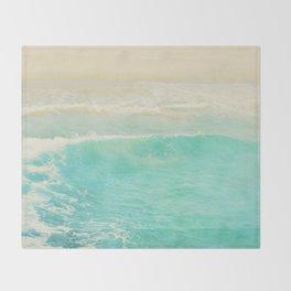 beach ocean wave. Surge. Hermosa Beach photograph Throw Blanket