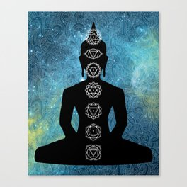 Sacred Geometry - Chakras Aligned Canvas Print