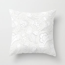 Ghostly Paisley: Dust to Dust Throw Pillow