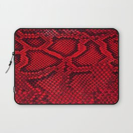 Red snake skin Laptop Sleeve