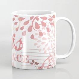 Pink Paris France Print Coffee Mug