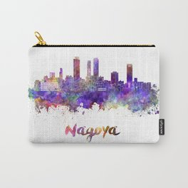 Nagoya skyline in watercolor Carry-All Pouch