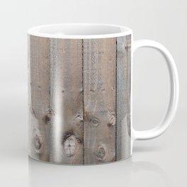 Brown Wooden Fence Coffee Mug